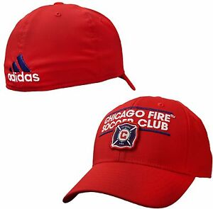 588308f17d5 Chicago Fire SC Structured Flex Fitted Hat MLS Adidas Team Pride Cap ...