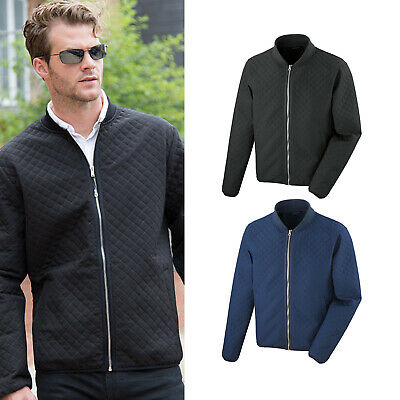 Windproof Result Soft Shell Bomber Jacket with Diamond Quilt Detail Shower