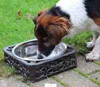 Clayre & Eef Schöner Hundenapf Gusseisen Napf Futter Wasser