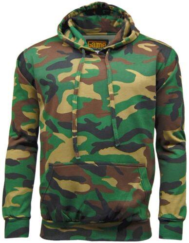 Men/'s Camouflage Hoodie Tracksuit Hoodie  Zipper Joggers Woodland Green