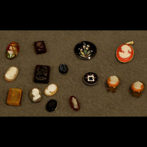 LOT-DE-PETITS-CAMEES-INTAILLES-XIXe-LOT-OF-SMALL-CAMEOS-INTAGLIOS-XIXth