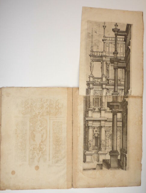 Extremely Rare 16th Century Architectural Engravings Dietterlin - Architectura