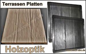 Beton Holzoptik Selber Machen schalungsform gießform für beton terrassen platten holzoptik 30 x