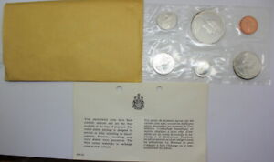 1965-Canada-Proof-like-Set-6-coins-Canadian-in-Original-Packaging-Free-Shipping