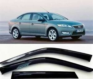 For-2006-2012-Ford-Fusion-4pcs-Smoke-Sun-Window-Vent-Visors-Side-Wind-Deflectors