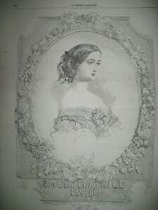 IMPERATRICE-EUGENIE-INAUGURATION-PONT-DE-BOUGIVAL-ET-CROISSY-SUEZ-GRAVURES-1858