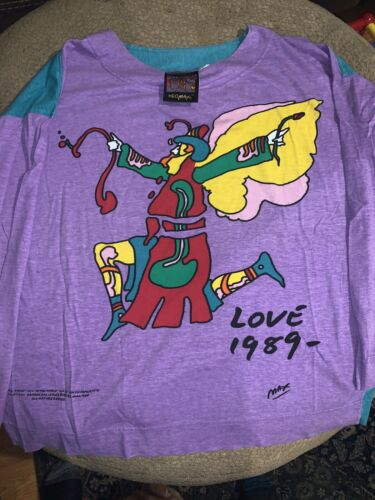 Vintage 1989 Peter Max ART Work Neo Max RARE shirt