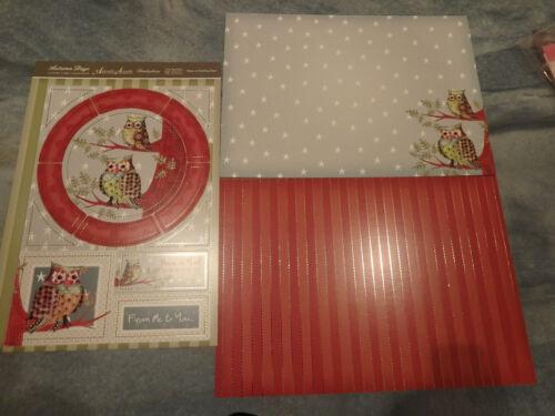 Hunkydory Kartenpapier Papier Kartenbastelset Eulen Geburtstag Designerpapier