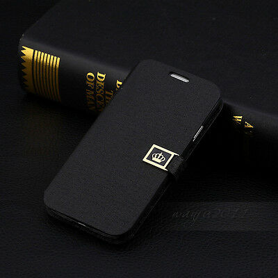 NEW Luxury Flip PU Leather Wallet Case Cover For Samsung Galaxy S4 I9500
