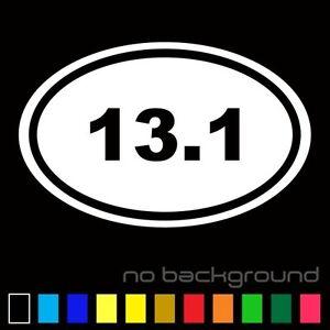 10K Marathon Decal Vinyl Sticker Man Runner Swoosh Logo Running Run Jogging