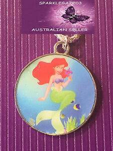 BRAND-NEW-2018-DISNEYS-BLUE-LITTLE-MERMAID-WITH-SILVER-PLATED-NECKLACE-62