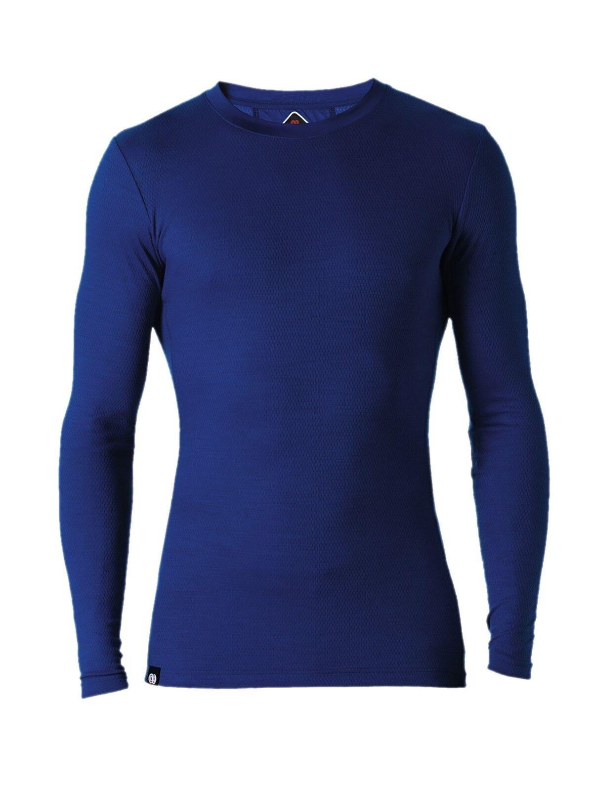 rougea REWOOLUTION furud-Men 's Mesh US T-shirt 180, Mérinos Laine, Royal