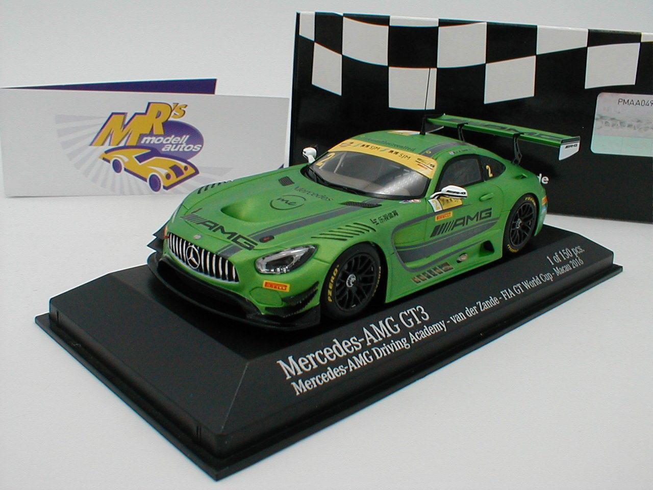 MINICHAMPS MINICHAMPS MINICHAMPS 437163102-Mercedes-Benz AMG gt3 No. 2 Macao GP 2016 V. D. Zande 1 43 de690a