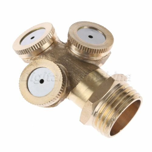 1//2//3//4 Hole Brass Spray Nozzle Sprinkler Head Mist Watering Garden Irrigation