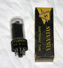 1 Sylvania 25L6GT Electronic Vacuum Tube in Box, Black Plate. NOS