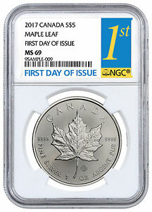 2017-Canada-5-1-oz-Silver-Maple-Leaf-NGC-MS69-First-Day-of-Issue-SKU44172
