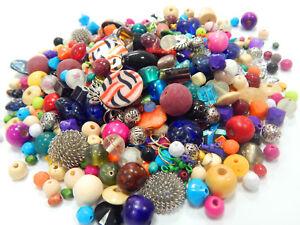 2-Kg-Perlen-Mix-Metall-Holz-Stein-Glas-Acryl-Bastlerbedarf-Schmuckherstellung