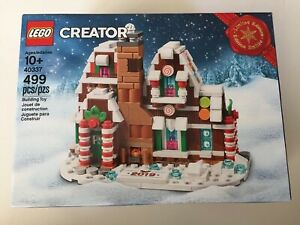 LEGO Creator Christmas 40337 Mini Gingerbread House New IN HAND Rare SOLD OUT