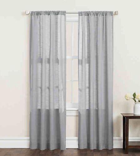 SALT Clarke 1 PAIR 84-in Light Filtering Rod Pocket Curtain Panels Gray Grey