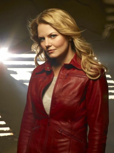 "/""ONCE UPON A TIME/"" Jennifer Morrison /""Emma Swan/"" Ladies Red Sheep Leather Jacket"