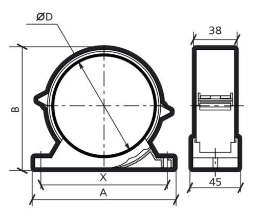 Verbindungsstück Rohr Klammer Verbinder 100mm Klemme Aufhänger Halter Clip