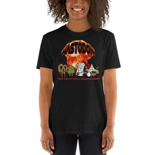 Mastodon Concert T-Shirt Aqua Teen Hunger Force Movie Heavy Metal Band Hard Rock