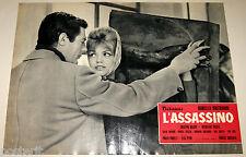 fotobusta originale L'ASSASSINO Marcello Mastroianni Cristina Gajoni 1961 #11