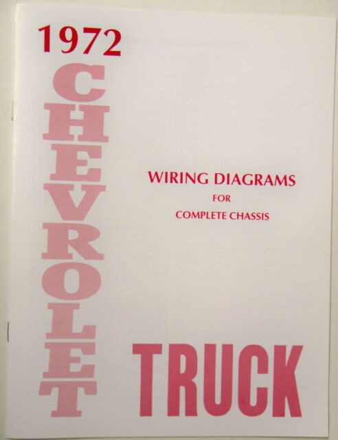 1972 Chevy Truck Wiring Diagram Manual