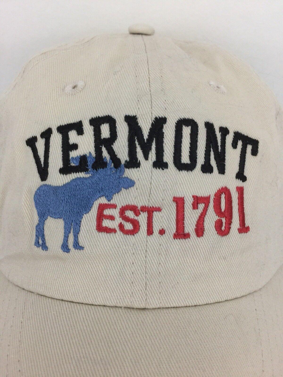 Vermont Cap Est.1791 Hat Moose Logo Strap Back Tr… - image 2