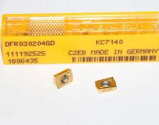 10 New Kennametal DFR 030204 GD KC7140 Drill Fix™ Carbide Inserts DFR030204GD