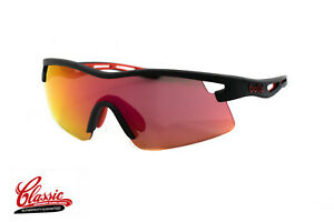 Bolle-Vortex-12265-Matte-Black-Frame-Red-Fire-Mirror-Lens-Cycling-Sunglasses