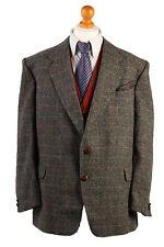 Harris Tweed Blazer Jacket Country WindowpaneHacking GREAT WEAVE Size XL-HT1718