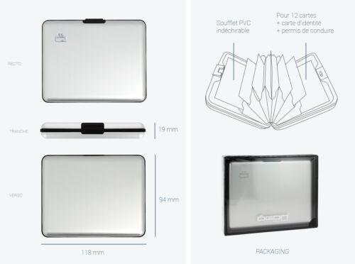 Portefeuille Big Stockholm Ogon Designs ögon Titanium Noir Carbon monnaie wallet
