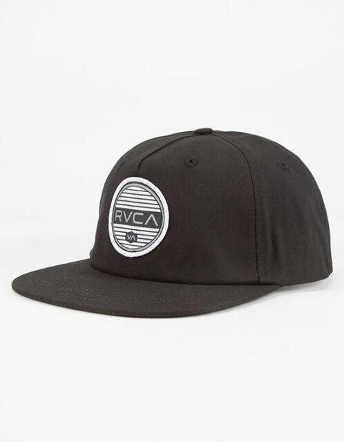 7a8d414d9e72ca RVCA - Rounds Mens Snapback Hat (new) Five 5 Panel Black Cap RUCA | eBay
