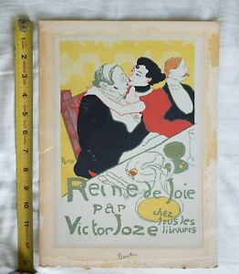 Toulouse-Lautrec-litho-COLOR-LITHOGRAPH-PRINT-11-1-4-034-x-8-034-reine-de-joie-mourlot
