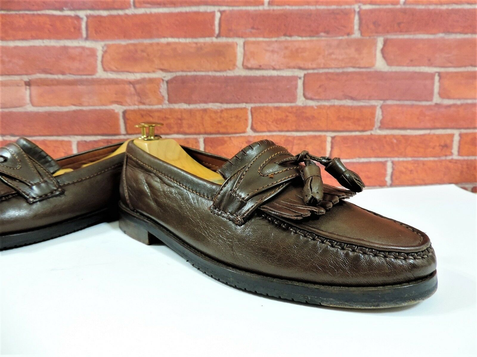 Bally Tan Fringed Tassel Penny Loafers UK 7.5 US US US 8.5 EU 41.5 V Minor Use db1ecc