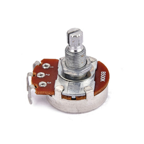 Bass 18mm Welle 2pcs B500K Taper Potentiometer Topf für E Gitarre
