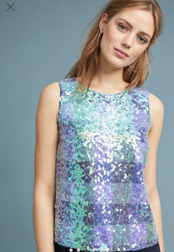 Anthtopologie Amatheia Top Sequins Lace New With Tags