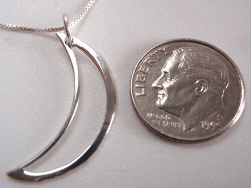 Crescent Moon i love the night 925 Pendentif En Argent Sterling Corona Sun Jewelry