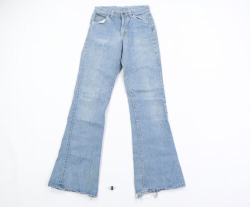 Vintage 70s Lee Womens Size 7 Distressed Flared Be
