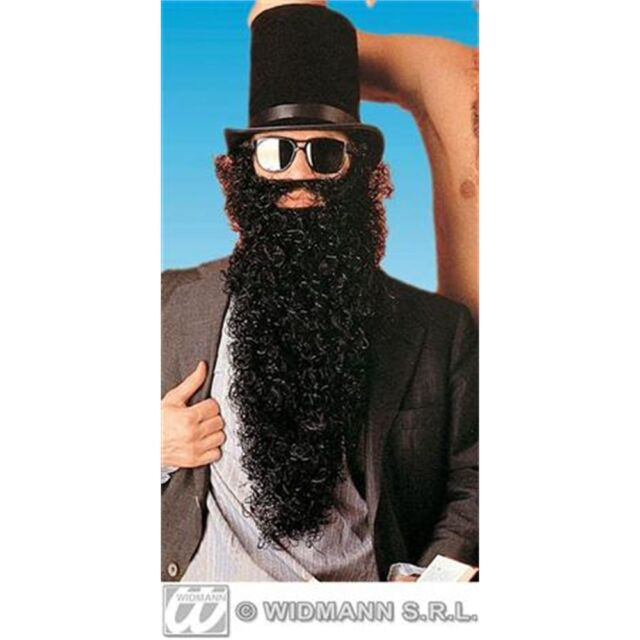 Black Fake False Beards For Fancy Dress Costumes Outfits Maxi Beards