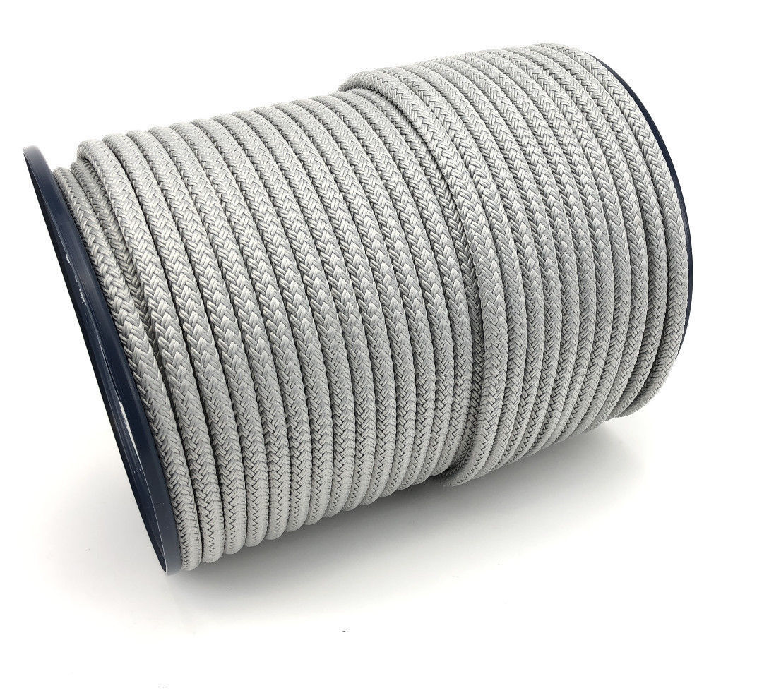 8mm Grey Double Braid On Braid Polyester Rope x 30 Metres, Marine, Boats