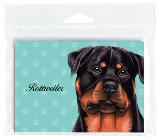 Rottweiler Dog Note Cards Set of 8 with Envelopes