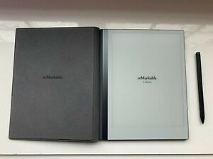 reMarkable 2 Bundle: Writing Tablet, Black Polymer Weave Book Folio, Marker Plus