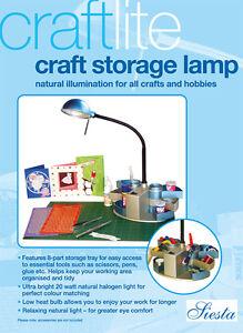 Siesta-Craftlite-Craft-Storage-Lamp-20-watt-Halogen-low-heat-bulb-mains-electric