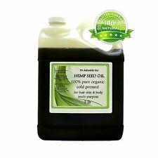 7 LB Premium Pure Organic Cold Pressed Best Hemp Seed Oil Multi Purpose 1 Gallon