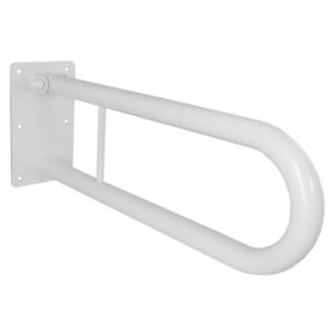 Klappgriff am WC oder Waschbecken für barrierefreies Bad weiß 60 cm 32 mm