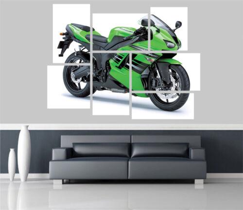 Kawasaki Ninja Zx 6R Motorbike Removable Self Adhesive Wall Picture Poster 1427