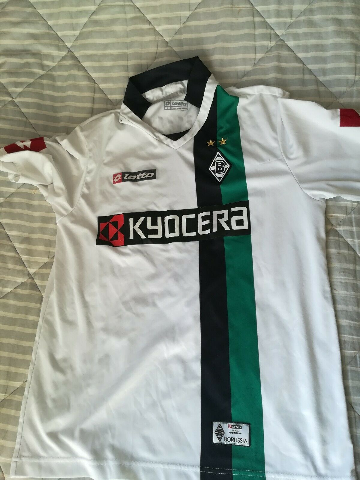 Borussia mönchengladbach lotto Trikot 09 10 Gr. M away  27 neuville    Genial