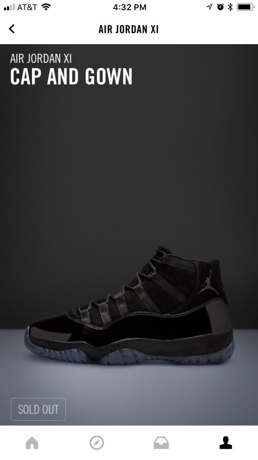 Air Jordan Cap &Gown Men's Shoes - Black White, 9.5 US